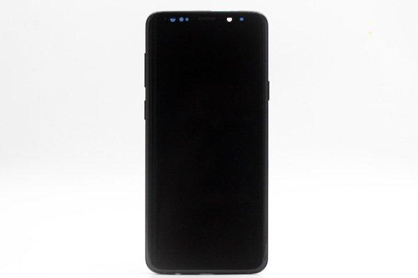 Galaxy S9+(SM-G965 SC-03K SCV39)フロントパネルASSY ブラック 交換修理 [1]