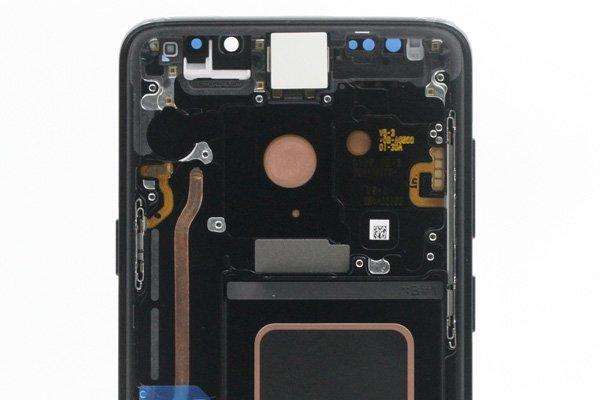 Galaxy S9+(SM-G965 SC-03K SCV39)フロントパネルASSY ブラック 交換修理 [3]