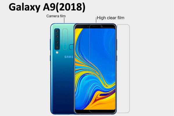 【ネコポス送料無料】Galaxy A9(2018)液晶保護フィルムセット クリスタルクリア  [1]