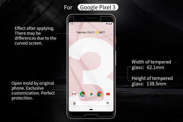 【ネコポス送料無料】Google Pixel3 強化ガラスフィルム ナノコーティング 硬度9H [7]