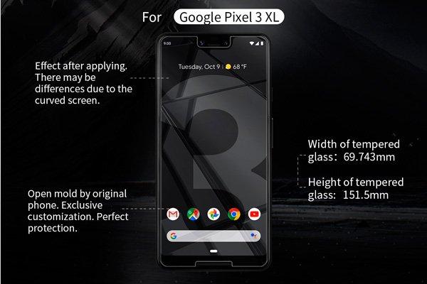 【ネコポス送料無料】Google Pixel3 XL 強化ガラスフィルム ナノコーティング 硬度9H [7]