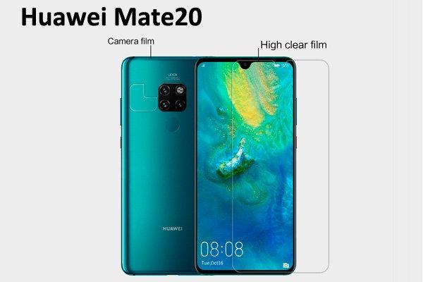 【ネコポス送料無料】Huawei Mate20 液晶保護フィルムセット クリスタルクリアタイプ [1]