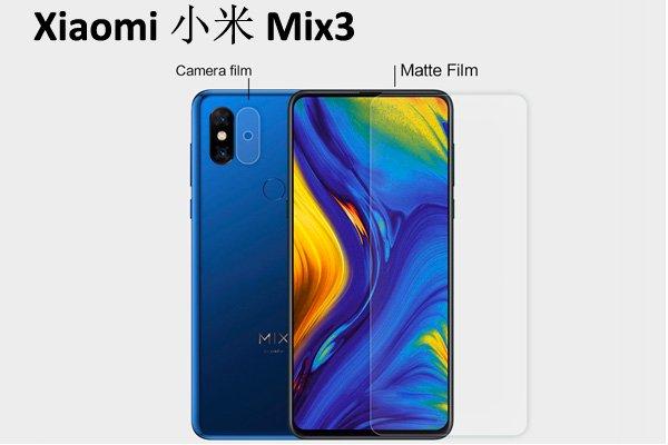 【ネコポス送料無料】Xiaomi (小米) Mi Mix3 液晶保護フィルムセット アンチグレアタイプ [1]