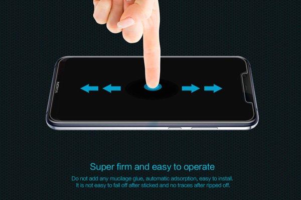 【ネコポス送料無料】Nokia8.1 強化ガラスフィルム ナノコーティング 硬度9H  [6]
