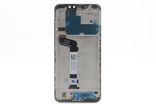 Redmi(紅米)Note6 Pro フロントパネルASSY ブラック 交換修理  [2]
