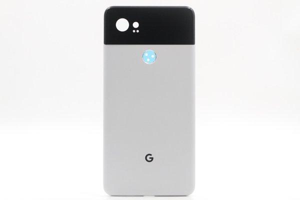 【ネコポス送料無料】Google Pixel2 XL バックカバー ホワイト x ブラック [1]