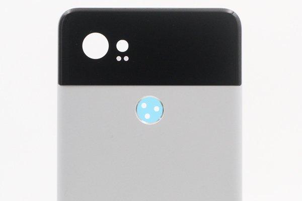 【ネコポス送料無料】Google Pixel2 XL バックカバー ホワイト x ブラック [3]
