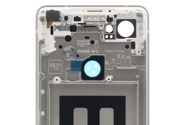 【ネコポス送料無料】Google Pixel2 XL バックカバー ホワイト x ブラック [4]