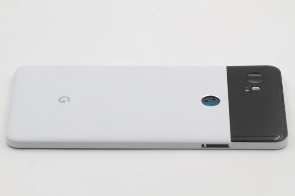 【ネコポス送料無料】Google Pixel2 XL バックカバー ホワイト x ブラック [5]