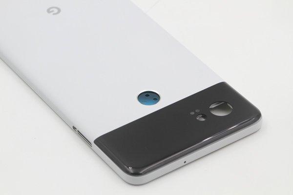 【ネコポス送料無料】Google Pixel2 XL バックカバー ホワイト x ブラック [7]