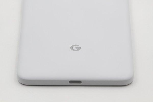 【ネコポス送料無料】Google Pixel2 XL バックカバー ホワイト x ブラック [8]