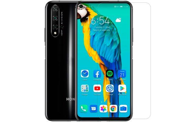 【ネコポス送料無料】Huawei Honor20 Pro 強化ガラスフィルム ナノコーティング 硬度9H [1]