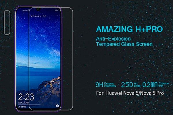 【ネコポス送料無料】Huawei Nova5 強化ガラスフィルム ナノコーティング 硬度9H [1]