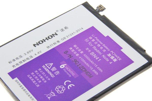 Redmi(紅米)Note4 互換バッテリー交換修理 BN41 4100mAh [3]