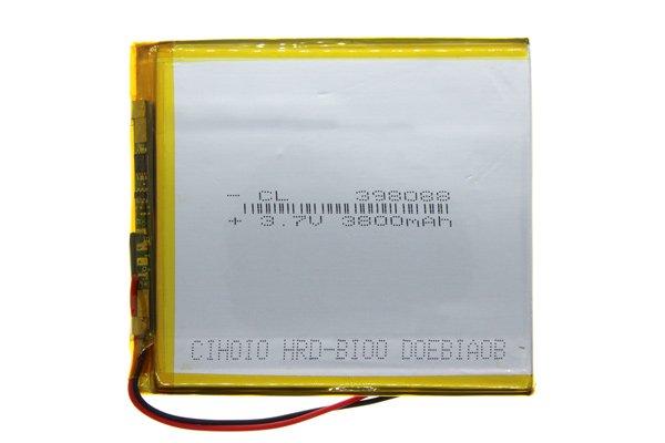 【ネコポス送料無料】中華タブレット用リチウムポリマーバッテリー 3.7V 3800mAh 90 x 80 x 3.7mm [1]