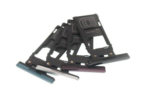【ネコポス送料無料】Xperia XZ3(SO-01L SOV39)SIMカードトレイ シルバー [1]