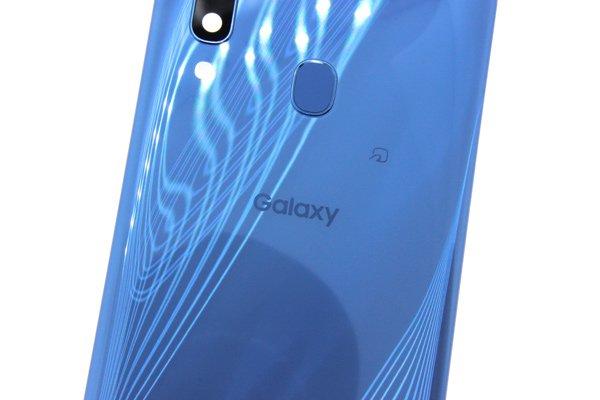 【ネコポス送料無料】Galaxy A30(SCV43)バックカバー ブルー [3]