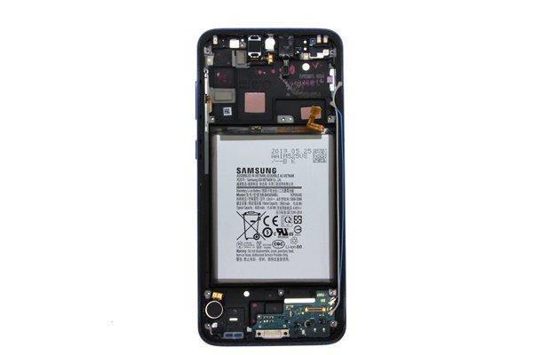 【ネコポス送料無料】Galaxy A30(SCV43)ミドルケース ブルー バッテリー付き [1]