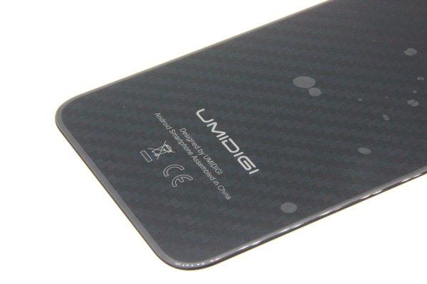 【ネコポス送料無料】UMIDIGI One Pro バックカバー ブラック [3]