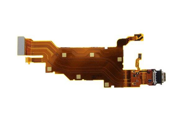 【ネコポス送料無料】Xperia XZ2 Premium(SO-04K)USB TYPE-C コネクター FPCケーブル [1]