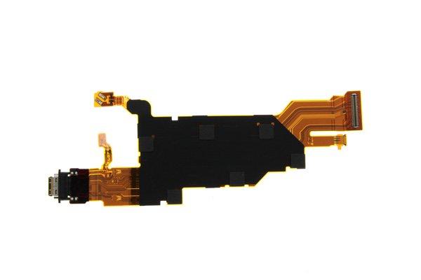 【ネコポス送料無料】Xperia XZ2 Premium(SO-04K)USB TYPE-C コネクター FPCケーブル [2]