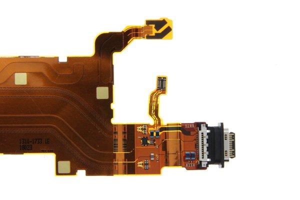 【ネコポス送料無料】Xperia XZ2 Premium(SO-04K)USB TYPE-C コネクター FPCケーブル [4]