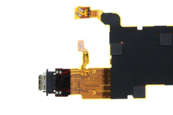 【ネコポス送料無料】Xperia XZ2 Premium(SO-04K)USB TYPE-C コネクター FPCケーブル [5]
