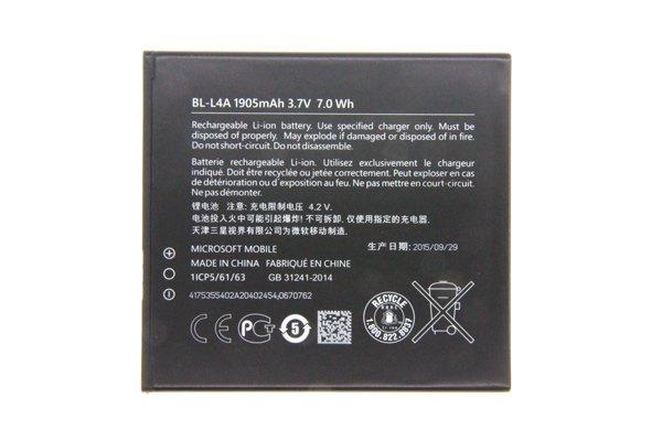 【ネコポス送料無料】Microsoft LUMIA535 バッテリー BL-L4A 1905mAh  [1]