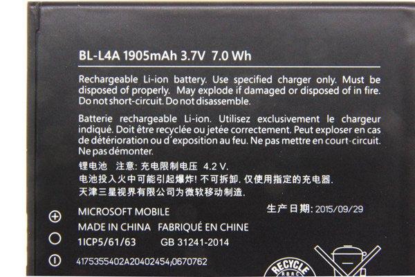 【ネコポス送料無料】Microsoft LUMIA535 バッテリー BL-L4A 1905mAh  [2]