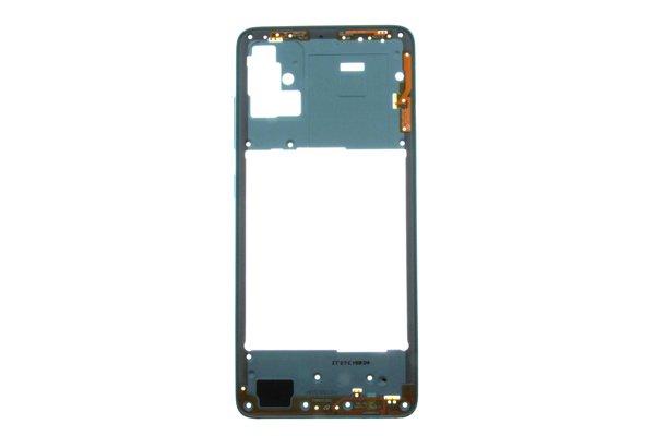 【ネコポス送料無料】Galaxy A51(SM-A515F/DSN)ミドルフレーム ブルー [1]
