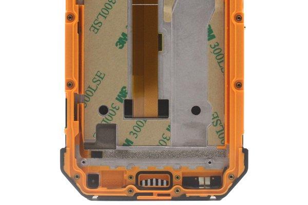 Ulefone Armor 3w フロントパネルASSY オレンジ 交換修理 [4]