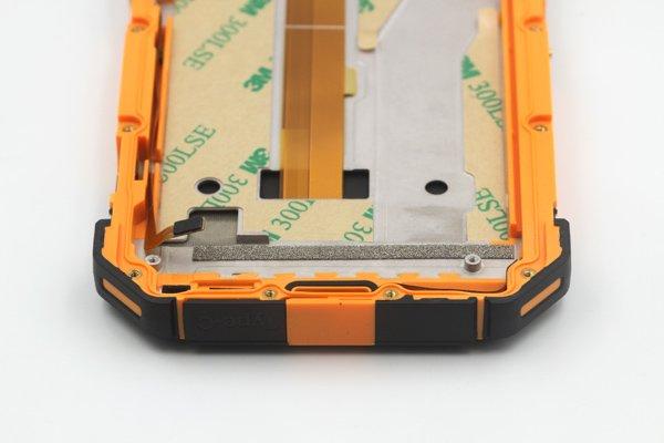 Ulefone Armor 3w フロントパネルASSY オレンジ 交換修理 [8]