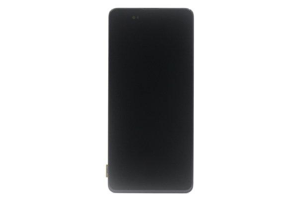 Galaxy A71 (SM-A715F) フロントパネルASSY ブラック 交換修理 [1]