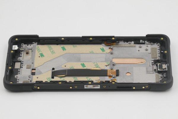 Ulefone Armor10 フロントパネルASSY ブラック 交換修理 [7]