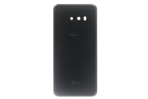 【ネコポス送料無料】LG G8X ThinQ バックカバー ブラック 両面テープ付 [1]