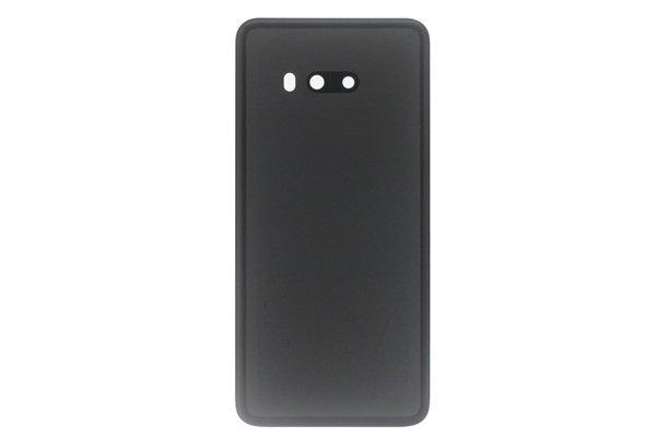 【ネコポス送料無料】LG G8X ThinQ バックカバー ブラック 両面テープ付 [2]