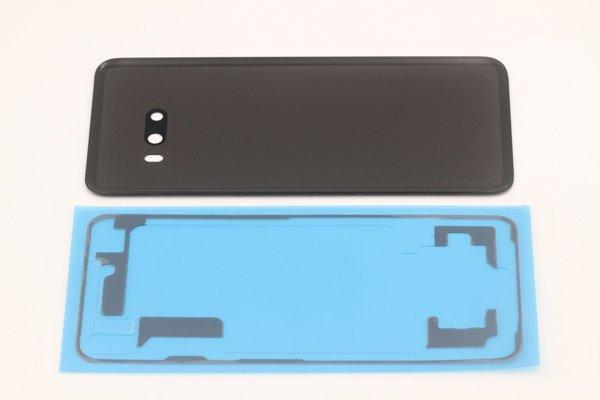 【ネコポス送料無料】LG G8X ThinQ バックカバー ブラック 両面テープ付 [5]