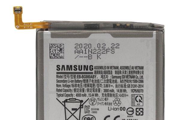 【ネコポス送料無料】Galaxy S20 5G(SC-51A SCG01 SM-G980)バッテリー EB-BG980ABY 4000mAh [3]