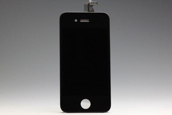 Apple iPhone4 フロントパネルASSY ブラック  [1]
