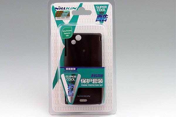 Xperia arc docomo SO-01C専用保護ケース 液晶保護フィルム付き ブラック [1]