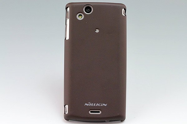 Xperia arc docomo SO-01C専用保護ケース 液晶保護フィルム付き ブラウン [4]