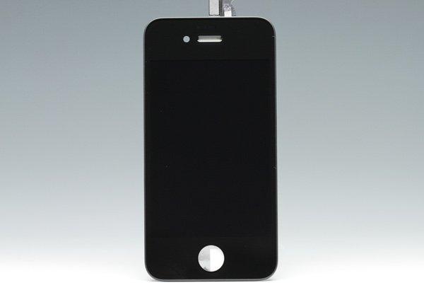Apple iPhone4S フロントパネルASSY ブラック [1]