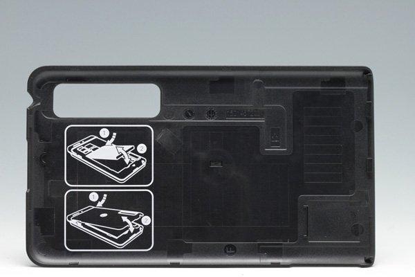 【ネコポス送料無料】MOTOROLA Droid3 (XT883) バッテリーカバー ブラック Verizon仕様  [2]
