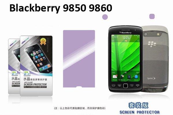 【ネコポス送料無料】 Blackberry Torch 9850 9860用 液晶保護フィルムセット クリスタルクリアタイプ  [2]