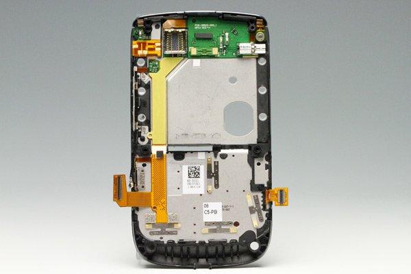 【ネコポス送料無料】Blackberry torch 9810 ミドルケースASSY ブラック  [2]