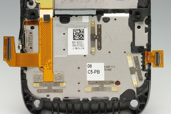 【ネコポス送料無料】Blackberry torch 9810 ミドルケースASSY ブラック  [4]