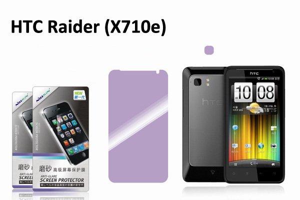 【ネコポス送料無料】HTC Raider (X710e)用 液晶保護フィルムセット アンチグレアタイプ  [2]