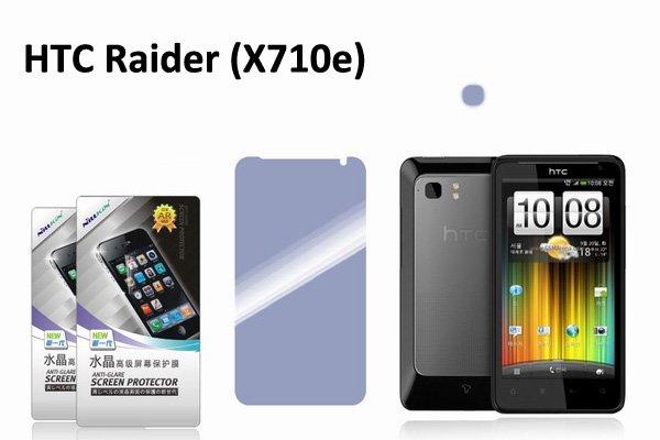 【ネコポス送料無料】 HTC Raider (X710e)用 液晶保護フィルムセット クリスタルクリアタイプ  [2]
