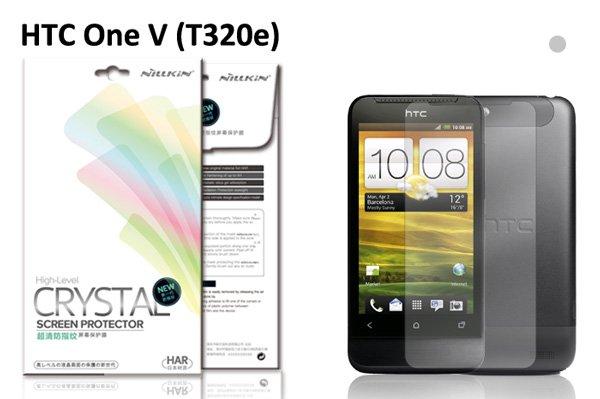 【ネコポス送料無料】HTC One V(T320e) 液晶保護フィルムセット クリスタルクリアタイプ  [1]