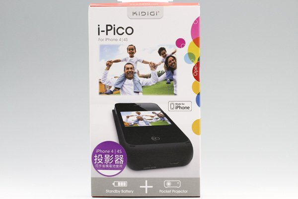 iPhone4・iPhone4S用モバイルプロジェクター (バッテリー内蔵・一体型)  [1]